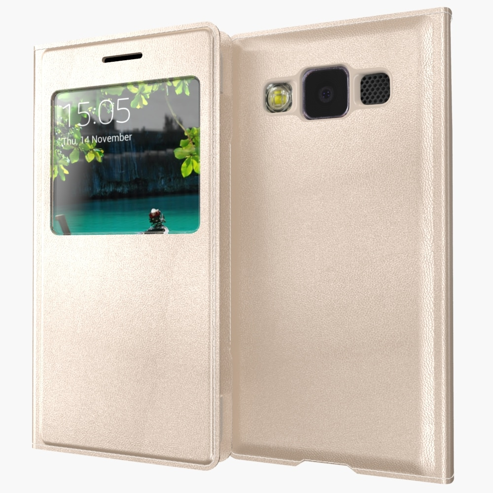 Für Samsung Galaxy A3 A300 A3000 A300F/A5 A500F A500M A500G A5000 Luxus Smart View Fenster Abdeckung Haut Flip leder Fall