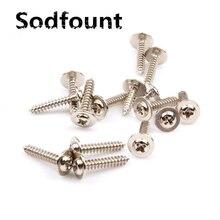 100pcs/Lot Cross round head self-tapping screws PWA nickel plated M2XL(3-12)XGasket Pan head round head with washer screw