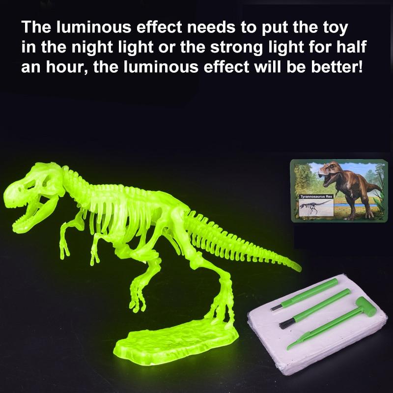 Набор раскопки в виде динозавра Юрского периода, набор раскопки, обучающая техника, Набор изящных игрушек, детский фигурки, обучающий подар...