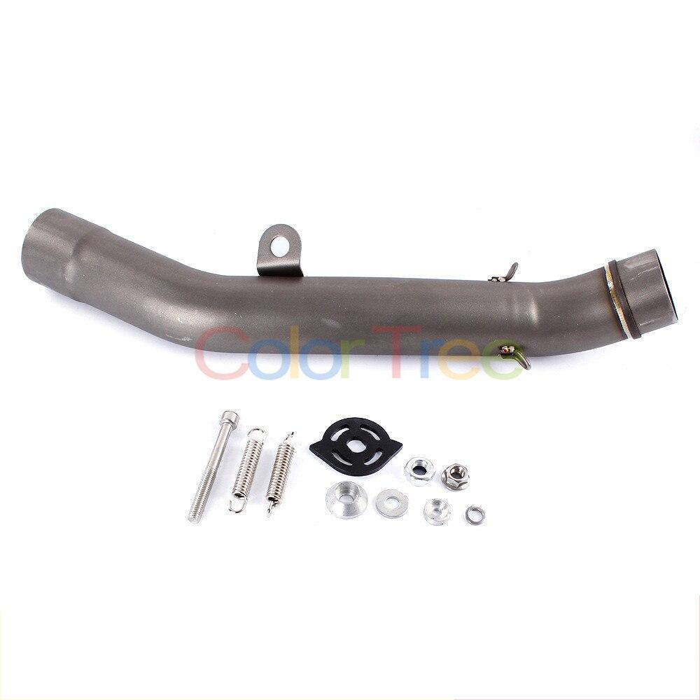 Escape de enlace conectar modificado tubo silenciador tubo central para Kawasaki Z800 2013-2016, 2014 de 2015