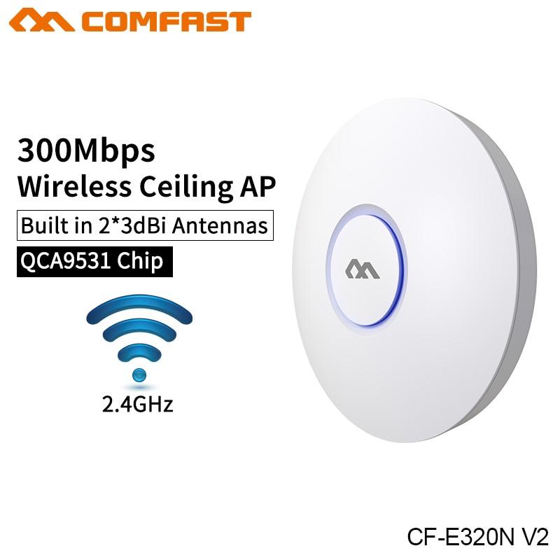 Wireless indoor AP router wifi de 300 Ghz a 2,4 Mbps de techo AP negocios Wifi sistema de comercialización AP apoyo GSM COMFAST CF-E320N V2