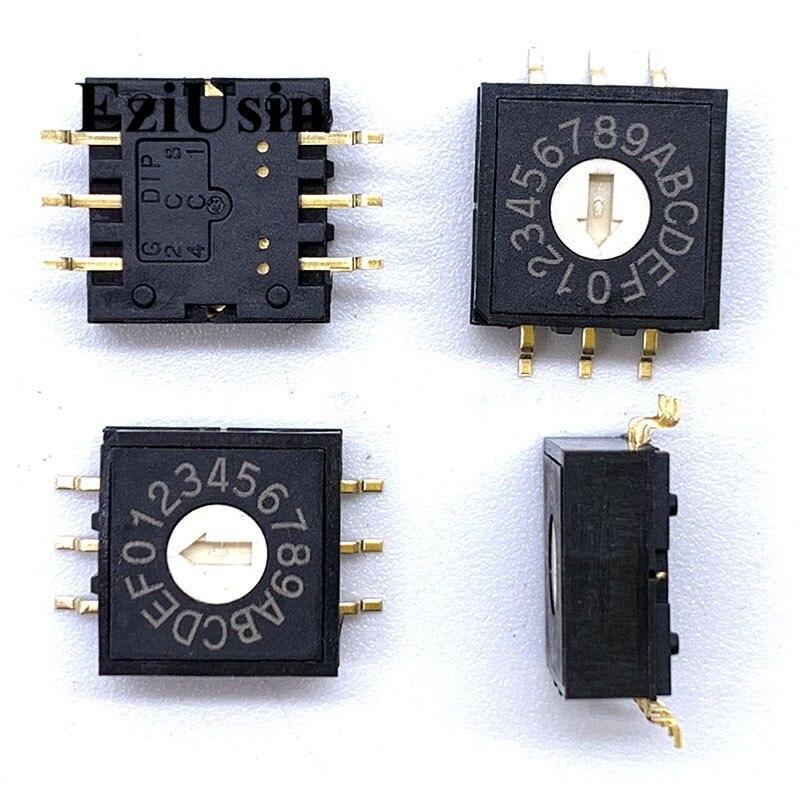 0-F 16 поворотная ручка для кодирования, переключатель SMD 6pins 0 мм хвостовиком 33, переключатель PCB, RM3AF-16R 6p