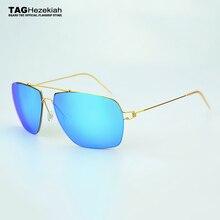 Lunettes de soleil en titane pour hommes   2017 TAG de nouveau design, lunettes de soleil pour femmes