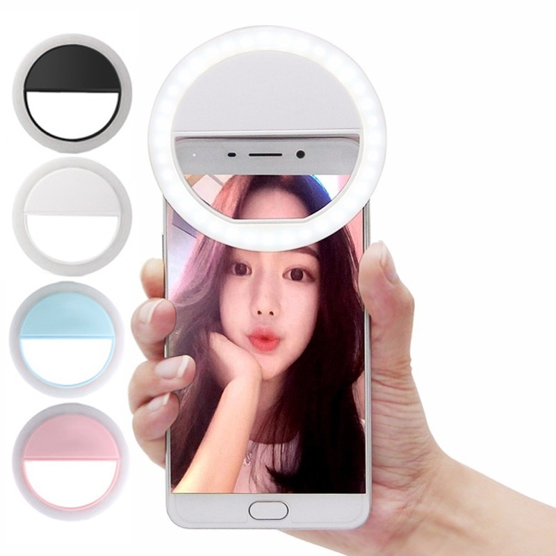 Beauté Selfie lumière Led caméra téléphone photographie Selfie lumière pour Xiaomi iPhone Sumsang Smartphone non inclus la batterie