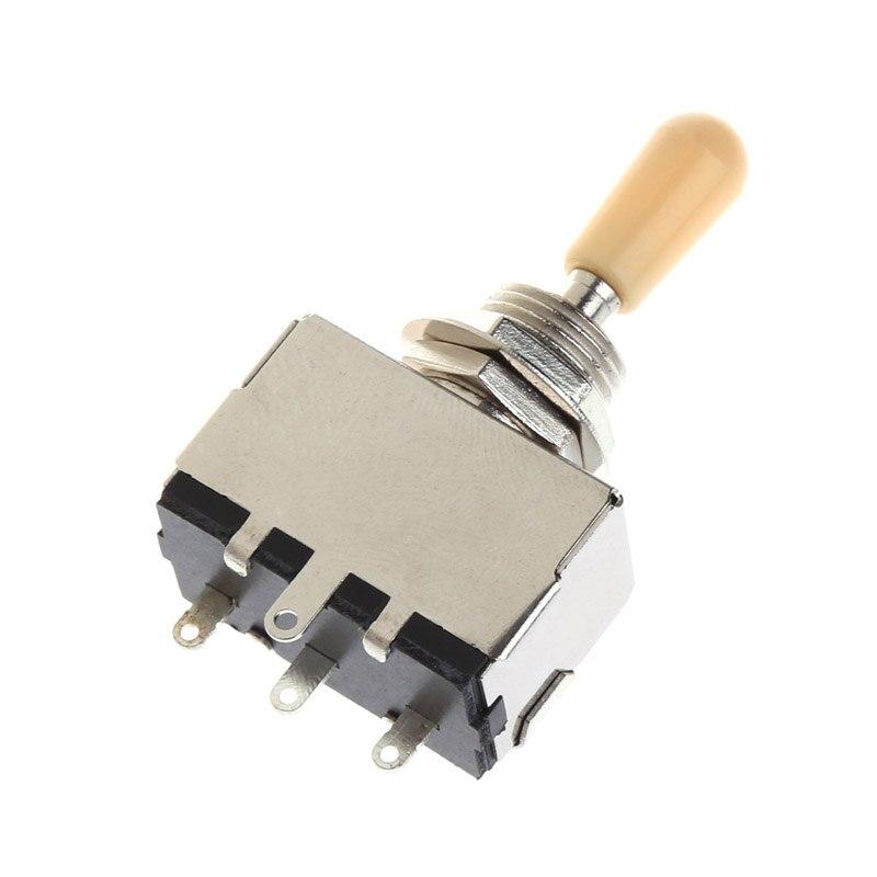 Interruptor de palanca cerrado de 3 vías tipo caja Chrome para interruptor eléctrico de la máquina de crema de guitarra