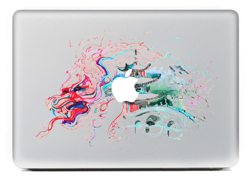 Виниловая наклейка на ноутбук с акварелью architectur, наклейки для macbook Pro Air 13 дюймов, мультяшный чехол для ноутбука mac book