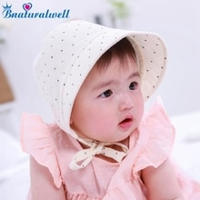 Bnaturalwell Baby meisjes bonnet Sunbonnet Peuter Katoen Zonnehoed Zuigeling Motorkap Photo Prop Pasgeboren Hoed douche gift Photo Prop H837