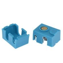 3D Printer Deel Siliconen Case Sok Hittebestendig Silicagel Case Voor V6 PT100 Hotend Extruder Blauw Cover Block 1Pc