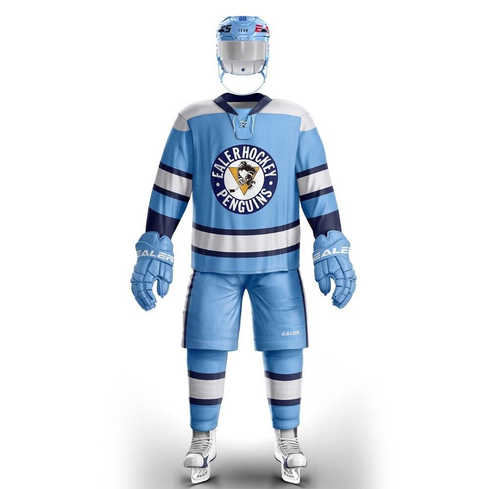 Jersey de hockey sobre hielo con Logo de pingüino impreso, ropa de entrenamiento de Pittsburgh, envío gratis, Han Duck, E004
