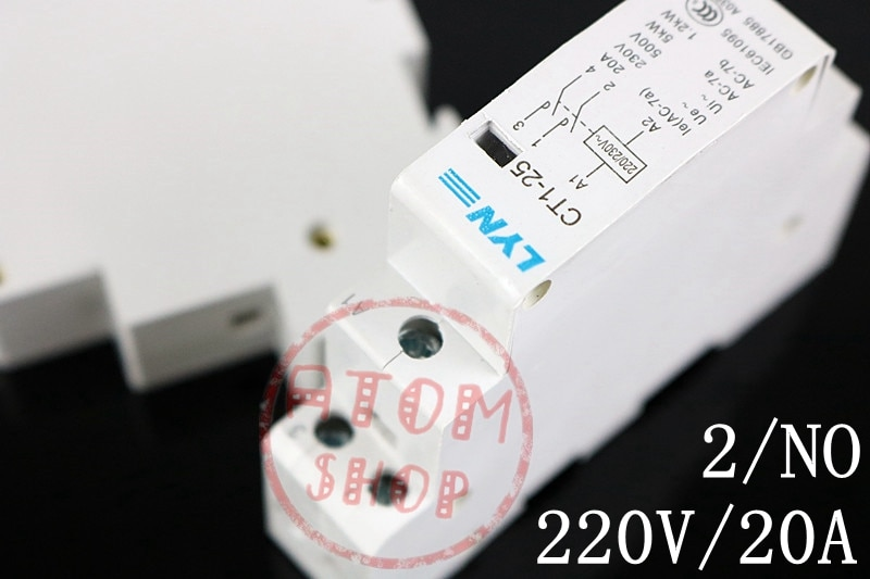CT1 контактор для дома с din-рейкой, контактор для дома, 20A 2P 230v 50or60HZ