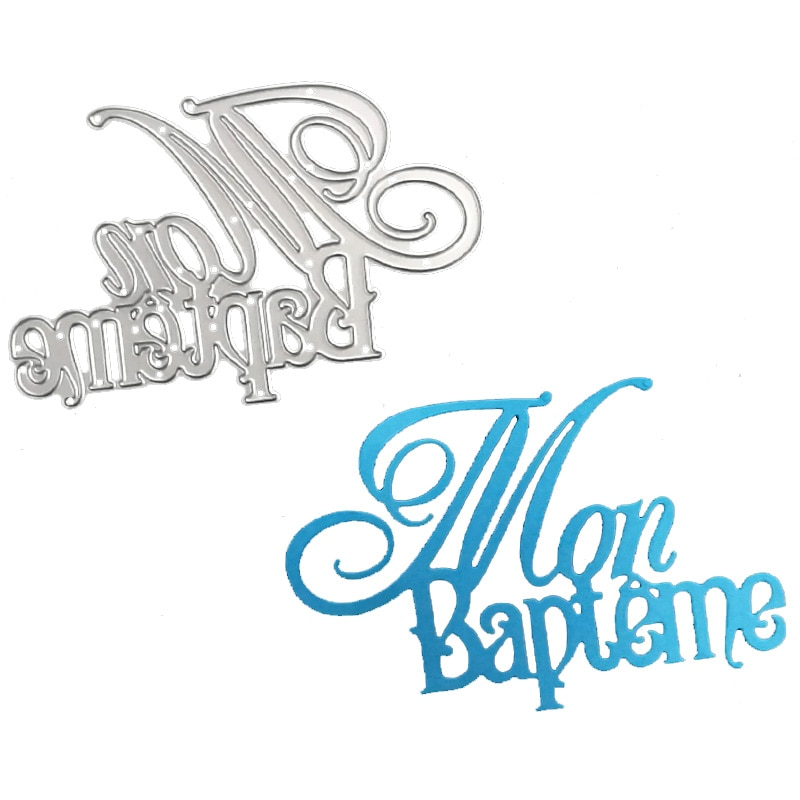 aliexpress.com - French Alphabet Cutting Die Words My baptism Metal Cutting Dies 2019 new Letter Craft Dies for Scrapbooking Paper Card making