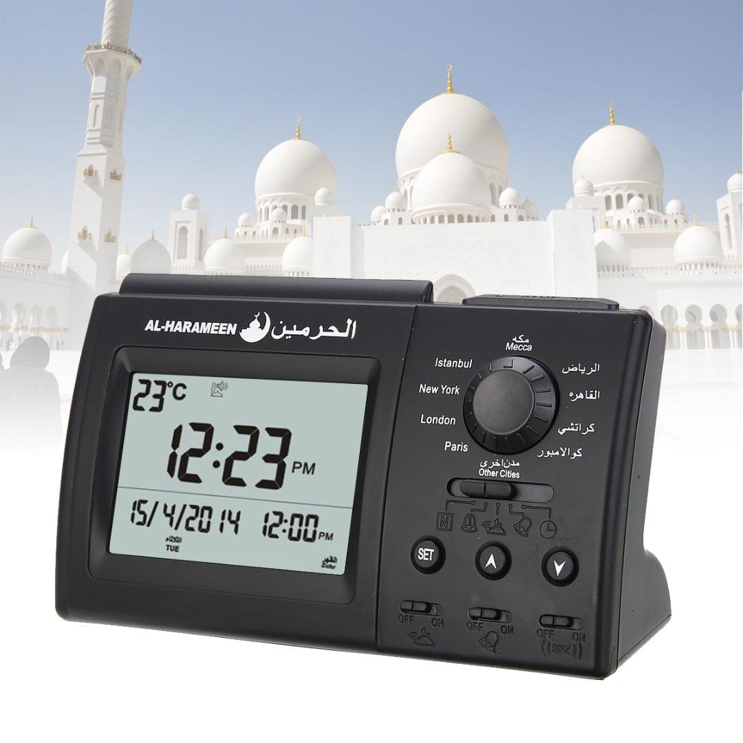Automatic Digital Clock Islamic Azan Muslim Prayer Alarm Clock for Desktop Table Clock Home Decoraio