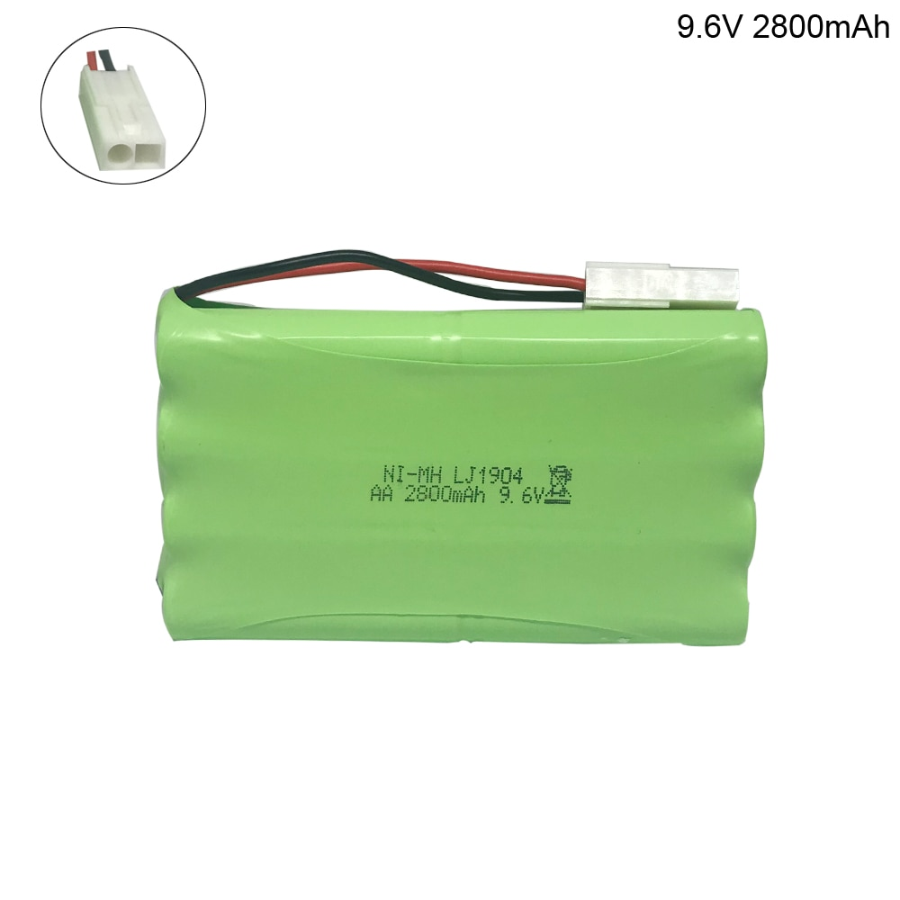 9.6V 2800mAh NI-MH battery EL-2P plug for RC Remote Control Toy Car toy Boat toys Gun Tank 8*AA 9.6V battery group free shipping