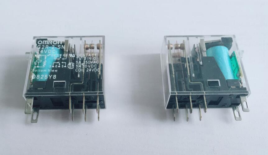2 piezas relé de potencia G2R-2-SN 8PIN DC12V DC24V AC110V ACC220V