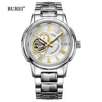 BUREI Brand Luxury Gold Automatic Watch Men Waterproof Fashion Hollow Sapphire Business Mechanical Wristwatch Relogio Masculino