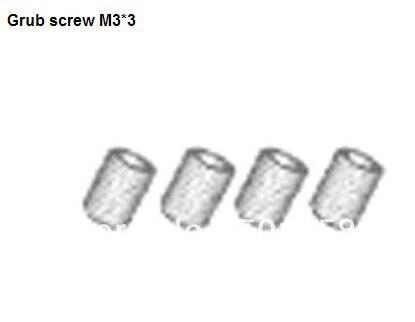 Pieza HSP 18039 Grub tornillo M3 * 3 X4P para Hispeed 1/10 ° modelo RC Buggy coche vehículo Truggy repuestos