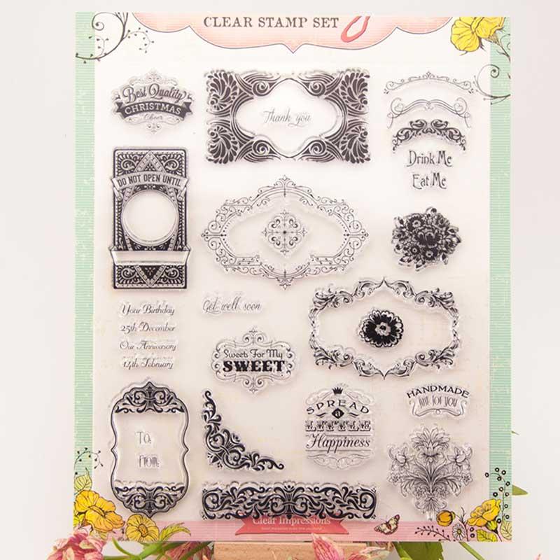 Винтаж Royal Clear марки/декоративные украшения карты