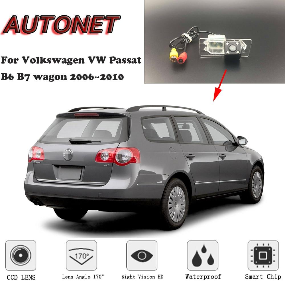 Cámara de visión trasera de respaldo de autoret para Volkswagen VW Passat B6 B7 carro 2006 2007 2008 2009 2010 cámara de matrícula de visión nocturna