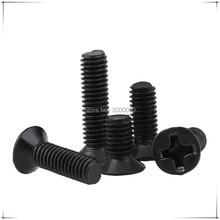 M2 M2.5 M3 Harden Steel Black Zinc Plated Phillipss Cross Recessed Countersunk Head Machine Screws 1000pcs/lot
