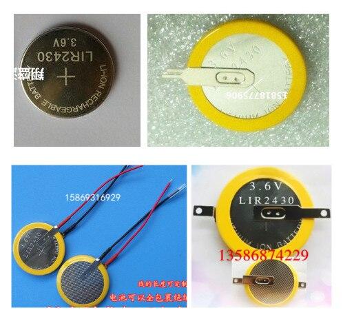 Batería de botón 3,6 V batería de iones de litio LIR2430