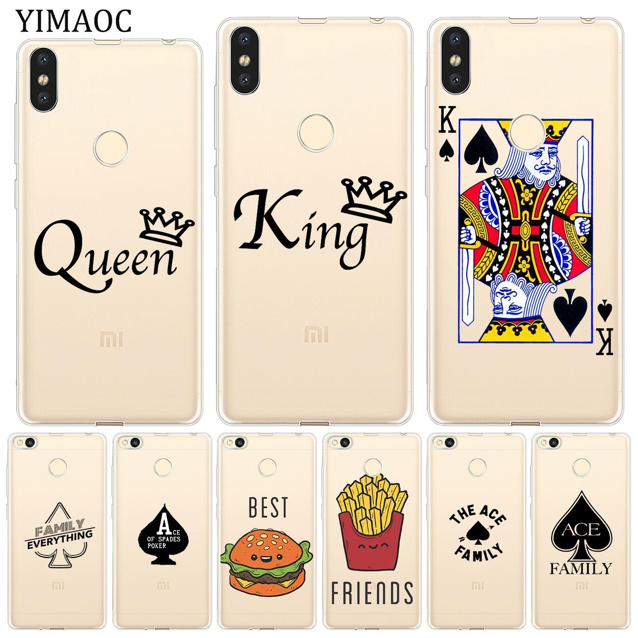 YIMAOC ace family poker Best Friends Soft Case for Xiaomi Mi 9 9T CC9 CC9E A3 Pro 8 SE A2 Lite A1 Mi