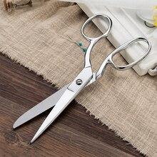 Tijeras blancas de costura de alta calidad para corte de tela, tijeras artesanales, herramientas de costura