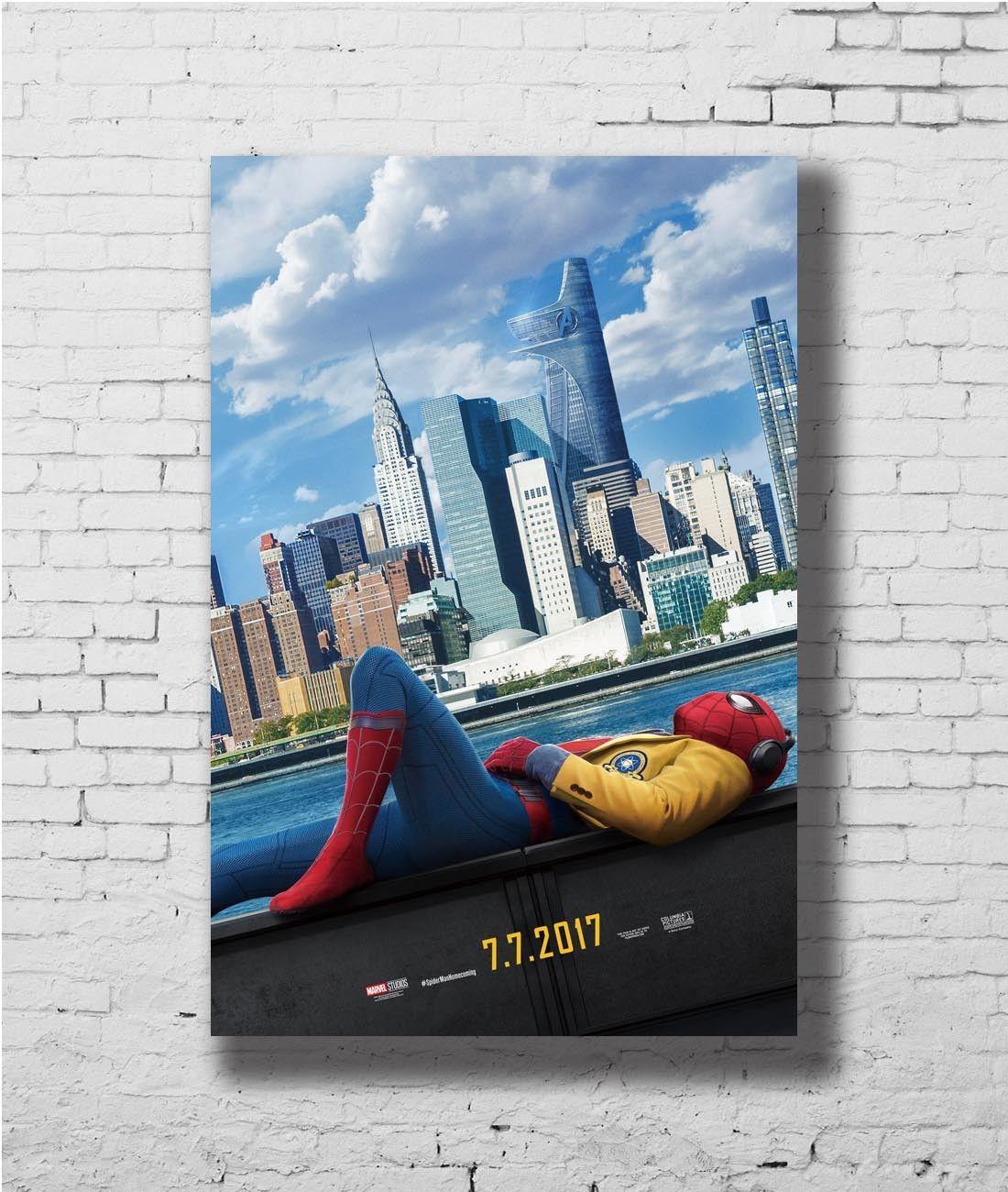 Carteles e impresiones Q0932 24x36 14x21 40 Spider-Man Homecoming película 2017 caliente Póster Artístico de lienzo pintura decoración del hogar