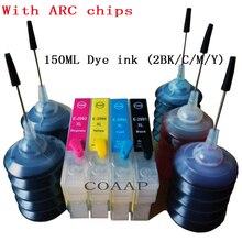 XP435 XP235 XP335 XP432 XP332 XP442 XP342 XP345 XP247 XP245 Printer for Refillable 29XL T2991 T2996 cartridge Chip+150ML Dye ink