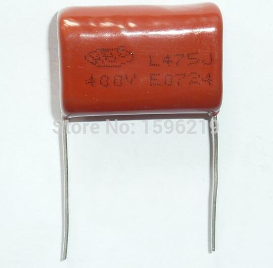 50 stücke CBB kondensator 475 400V 475J 4,7 uF 4700nF P27 CL21 Metallisierten Film Kondensator