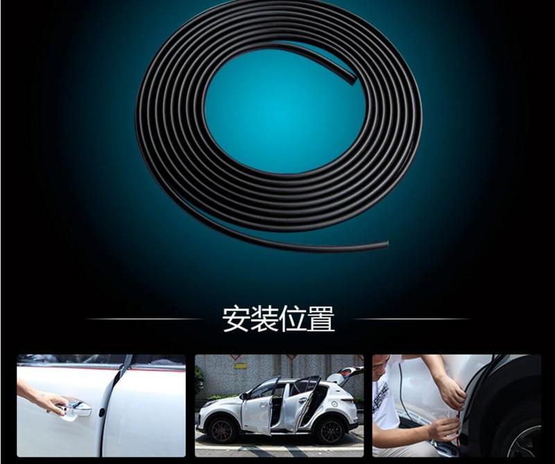Coche protección de puerta tira de goma para Toyota Avensis 3 Wago Fortuner Land Cruiser Sequoia Venza será del Highlander Accesorios