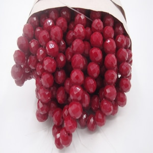 145Beads/4MM 98Beads/6MM 70Beads/8MM Wine Red Rondelle Faceted Ceramic Crystal Beads For DIY Jewelry Making