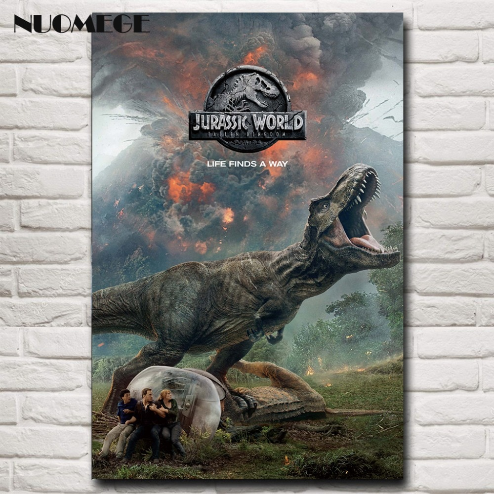 Jurassic World fallen kingdom Poster Print On Silk Fabric Painting Movie Wall Art Pictures For Living Room Cuadros Decoration