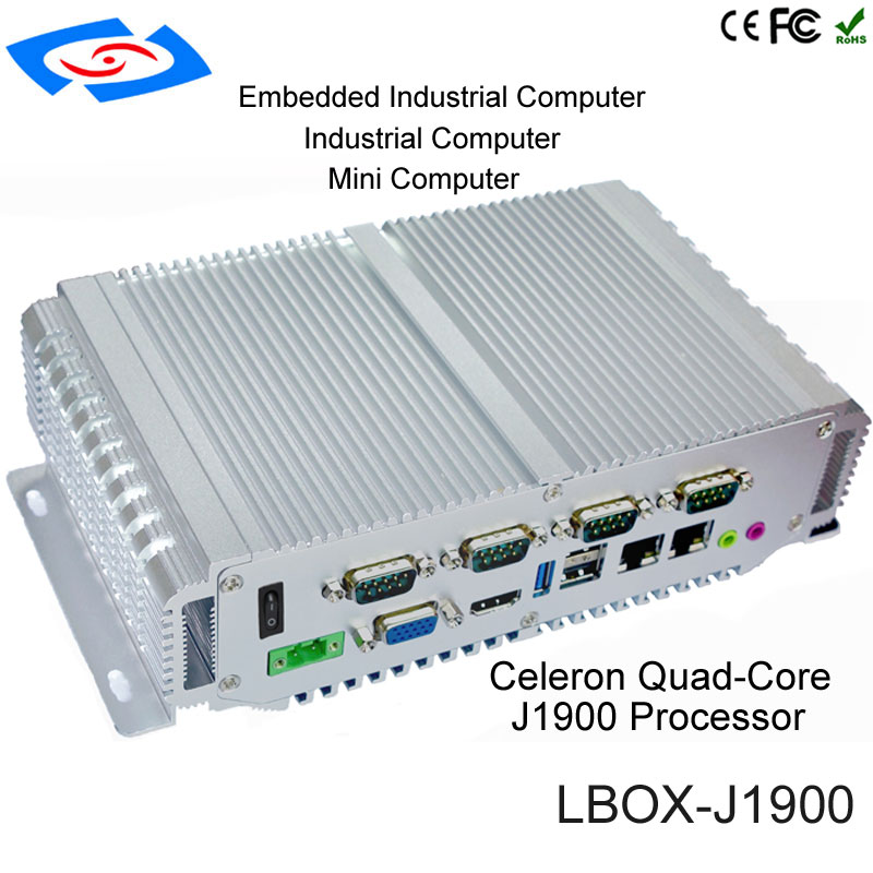 2018 Factory Intel Bay Trail J1900 Quad Core Mimi PC With Dual Lan Mini Box Industrial Computer Support 3G/4G/LTE WiFi