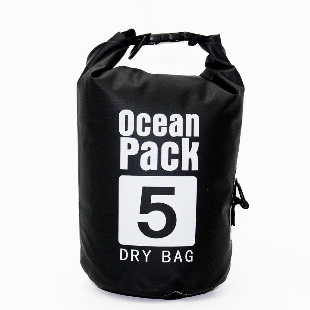 Bolsa de PVC a prueba de agua Ocean Pack seco de 2l y 5l para natación Impermeable piscina río Trekking bolsa de playa Sporttas