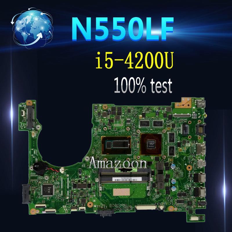 Amazoon n550lf placa-mãe para asus q550lf n550lf rev2.1 com i5-4200U n550lf mainboard n550lf placa-mãe