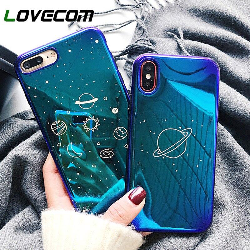 Чехол для телефона LOVECOM Universe Planet для iPhone 11 Pro Max XR XS Max X 8 7 6 6S Plus Ретро Blu-Ray мягкий чехол для задней панели телефона IMD