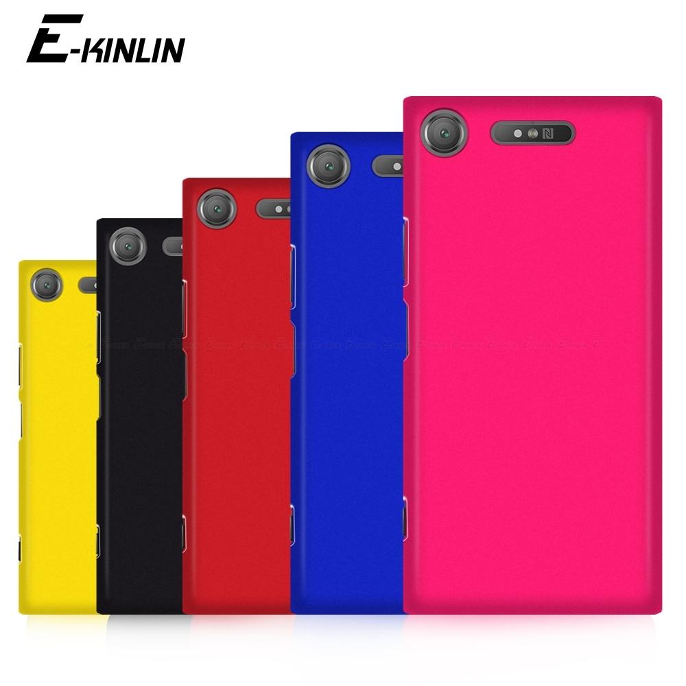 Матовый Жесткий чехол для телефона Sony Xperia XZ3 XZ2 XZ1 XZS XZ Premium Compact XA XA1 XA2 Ace 1 5 8 10 II Plus ультратонкая задняя крышка