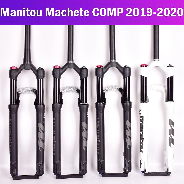 شوكة دراجة Manitou Machete COMP دراجة تعليق دراجة هوائية جبلية دراجة هوائية 27.5 بوصة 29er دليل التحكم عن بعد قفل 100*9 مللي متر