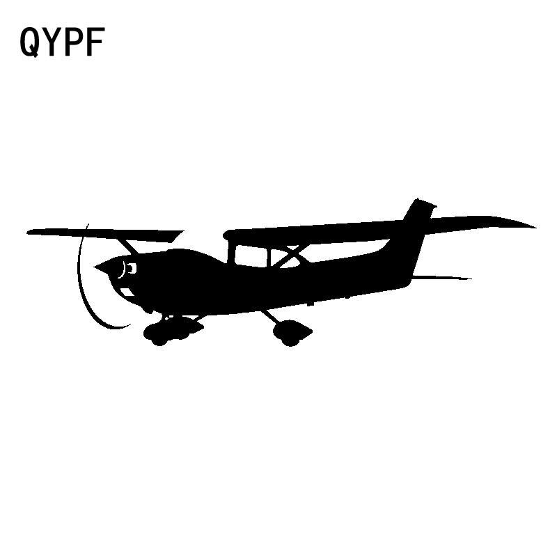 QYPF 18,3 cm * 5,5 cm Diaphanous Open-air, pegatinas de vinilo para coche de avión pequeño interesante para niños, pegatina duradera C18-0638