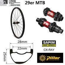 Haut de gamme 29er carbone VTT roue DT Swiss 240 moyeu Sapim CX rayon XC vtt paire de roues Tubeless QR ou Boost disponible