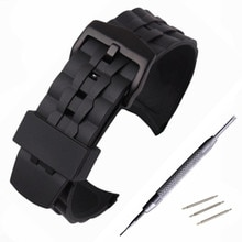 Bracelet en caoutchouc de Silicone pour Casio Edifice EF550 EF552 Bracelet de remplacement Bracelet de montre Sport Bracelet en acier inoxydable boucle Bracelet