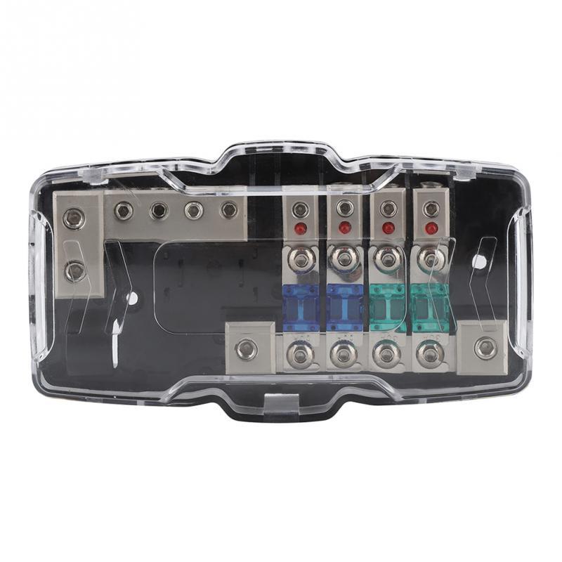 30A 60A coche estéreo de Audio ANL fusible de hoja de bloques de distribución 04GA de 4 fusibles caja bloque Universal accesorios de coche nuevo