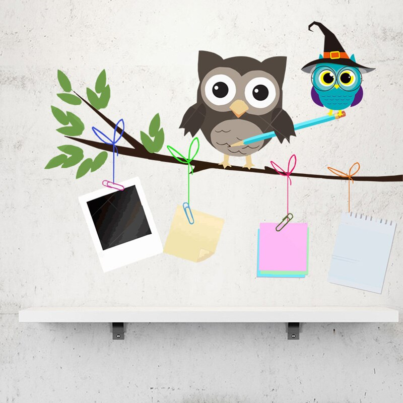 AliExpress - Cartoon hand drawn owl Wall Sticker for kids baby children rooms background home decoration Mural Art Decals Nursery stickers