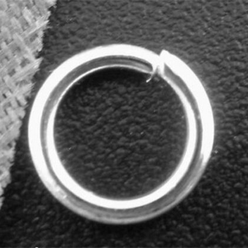 500Pcs Silver Plated Round Metal Open Jump Rings DIY Jewelry Making 7mm/8mm