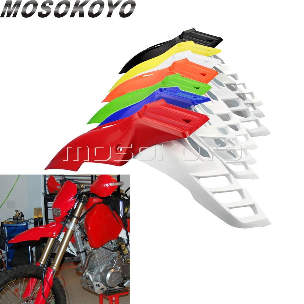 Переднее крыло для мотокросса Dirt Racing Bike Evo Supermoto передние крылья для Honda XR KLX YZF DRZ CR CRF DT RMX Red