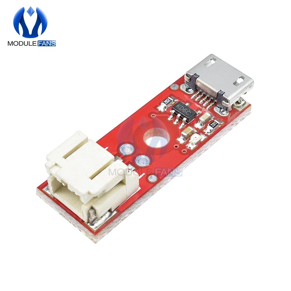MCP73831 LiPo зарядное устройство основной Micro USB 3,7 V 500mA модуль зарядного устройства литиевой батареи Micro USB интерфейс зарядная плата Diymore