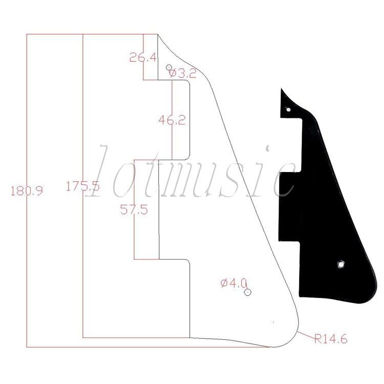 6Pcs Black Guitar Pickguard For Electric Guitar Replacement Body Custom Plastic enlarge
