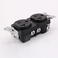 hi end red copper rhodium plated ac 20a power receptacles wall outlet power distributor 1pcs