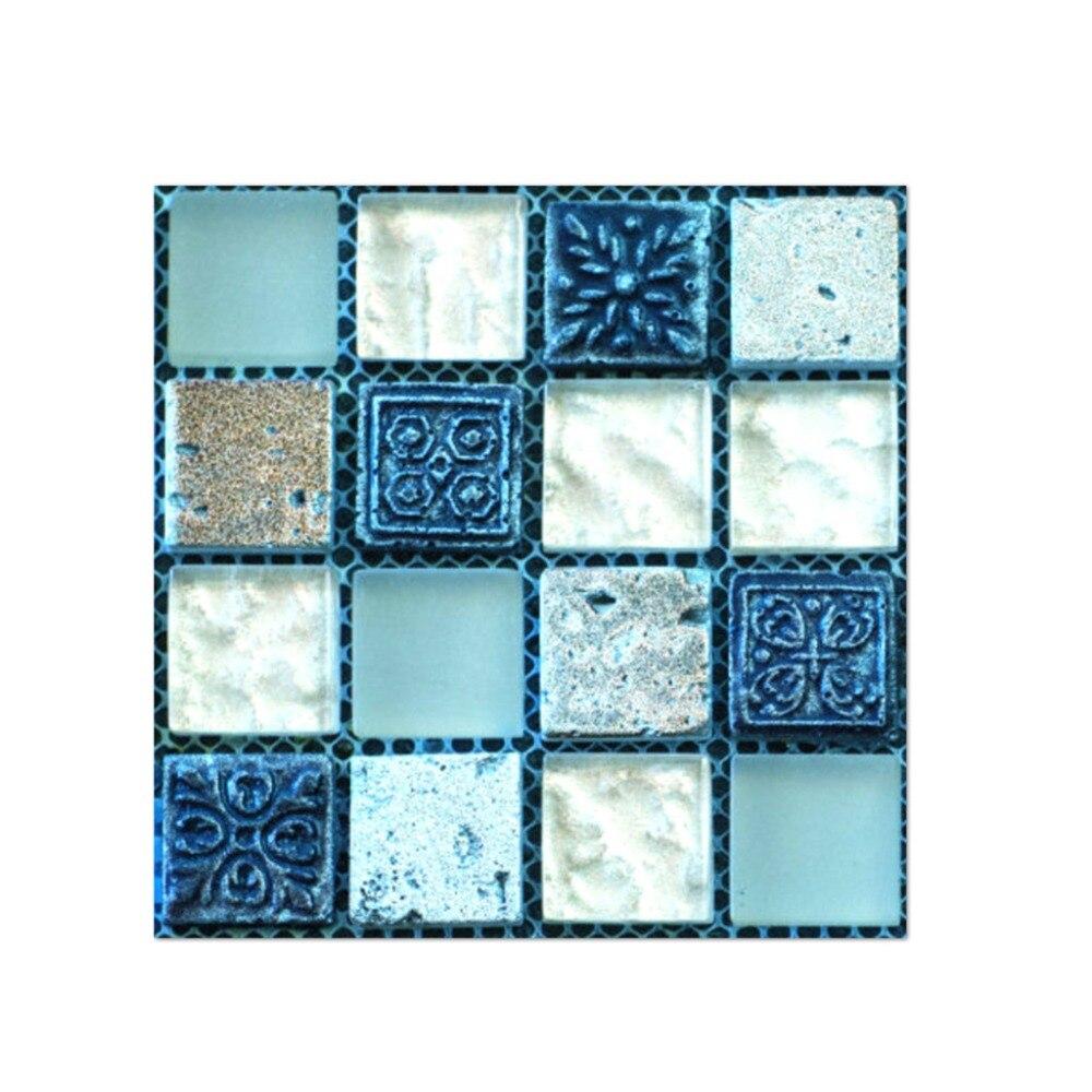 Papel de parede 10x10cm 20 pçs auto adesivo telha piso papel decalque diy cozinha decoração do banheiro q90319
