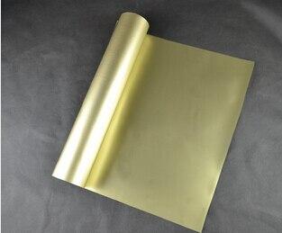 (0.5x5 متر) ذهبي 2.5 متر مربع PU نقل الحرارة الفينيل للملابس Vinil Textil T قميص الحديد على الفينيل Texile الحرارة الصحافة الفينيل